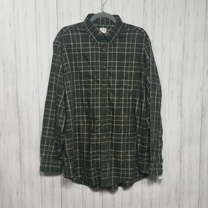 Brooks Brothers green and cream check shirt